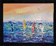 Les 4 Planches 2015 15x19 Original Painting by  Duaiv - 2