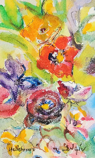 Helborus Flower Watercolor 2016 19x17 Watercolor by  Duaiv