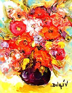 Fleurs Relief 2014 20x18 Original Painting -  Duaiv