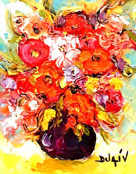 Fleurs Relief 2014 20x18 Original Painting by  Duaiv