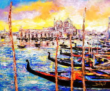 Venice Orange 2019 Embellished  Limited Edition Print -  Duaiv