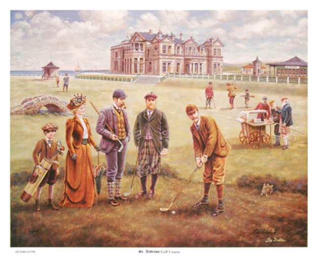 St. Andrews Golf Course Limited Edition Print by Lee Dubin