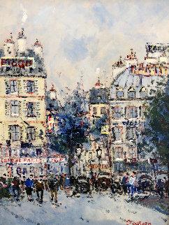 Les Boulevards a Paris 21x18 Original Painting by Jean Pierre DuBord