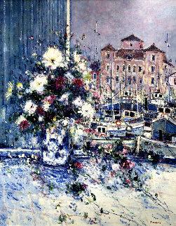 Les Fleurs De Pays Basque 1998 41x33 Super Huge Original Painting - Jean Pierre DuBord