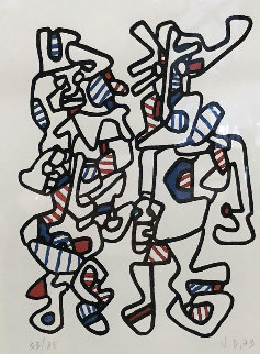 Untitled Lithograph 1973 HS Limited Edition Print - Jean DuBuffet