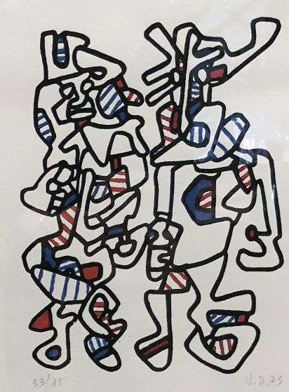 Untitled Lithograph 1973 HS Limited Edition Print by Jean DuBuffet