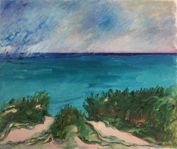 Lake Huron 1986 30x36 Original Painting - Duncan De Kergommeaux