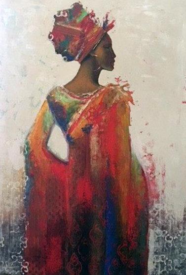 Ashanti 2007 61x47 Original Painting by Jules Dupre