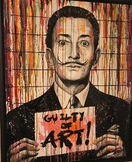 Guilty of Art - Salvador Dali 59x47 Original Painting - Julien Durix