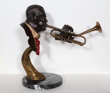 Dizzy Gillespie Bronze Sculpture 1992 20 in Sculpture by Ed Dwight