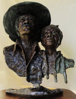 Dirt Farmers Bronze Sculpture 22 in Sculpture - Ed Dwight