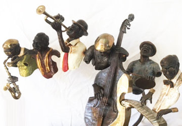 New Orleans Live Bronze Sculpture 48 in Super Huge Sculpture - Ed Dwight