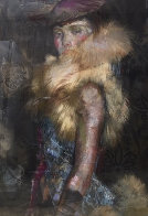 In Her Sights Painting 1999 48x36 Super Huge Original Painting by Charles Dwyer - 0