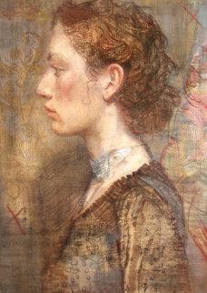Cameo 2002 58x36 Huge Original Painting - Charles Dwyer