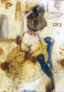 Anita Dollar Watercolor 2003 31x26 Watercolor by Charles Dwyer