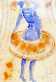 Smurfette Watercolor 2003 Works on Paper (not prints) by Charles Dwyer