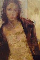 Petite Fleur 2002 56x43 Super Huge Original Painting by Charles Dwyer - 0