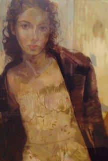 Petite Fleur 2002 56x43 Huge Original Painting - Charles Dwyer