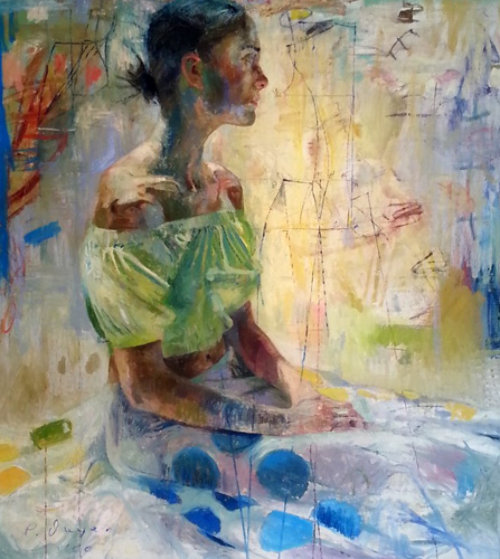 Scientific Tailor 2000 78x73 Original Painting by Charles Dwyer