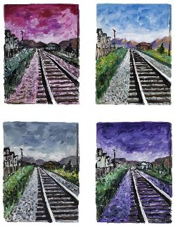Train Tracks, 4  Giclees in Portfolio (Drawn Blank Series) 2018 Limited Edition Print - Bob  Dylan
