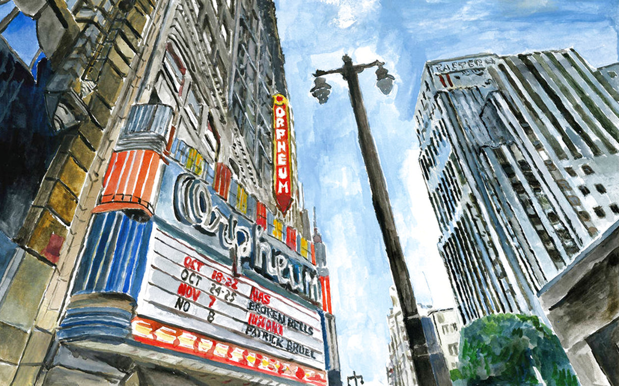 Theatre Downtown 2016 Limited Edition Print by Bob  Dylan