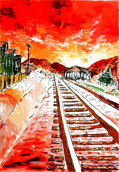 Train Tracks 2020 Portfolio of 4 Limited Edition Print by Bob  Dylan