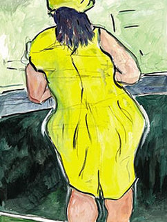 Drawn Blank Series: Woman in Red Lion Pub 2011 Limited Edition Print by Bob  Dylan
