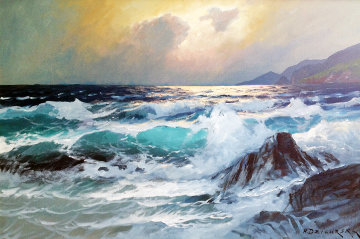 St. Lucia, 1968 24x36 Original Painting - Alex Dzigurski
