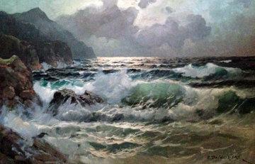 Seascape 30x30 Original Painting by Alex Dzigurski