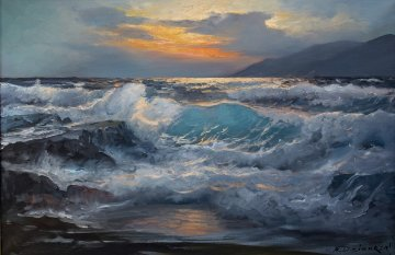 Untitled Seascape 30x42 Original Painting by Alex Dzigurski
