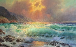 Sunset Over Carmel Original Painting - Alex Dzigurski II