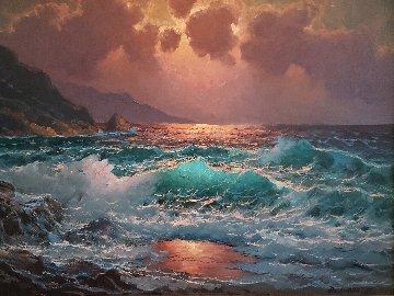 Deep Breakers 26x32  Original Painting by Alex Dzigurski II