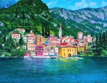 Varenna, Lake Como 31x37 Original Painting by Alex Dzigurski II