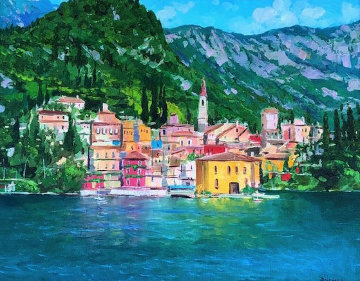Varenna, Lake Como 31x37 Original Painting - Alex Dzigurski II