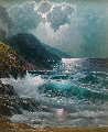 Moonlight Breakers Original Painting - Alex Dzigurski II