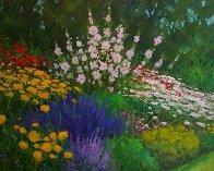 Carmel Cottage Garden 2010 28x24 Original Painting by Alex Dzigurski II - 0