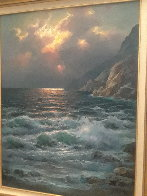Rugged Coast California 44x34  Huge Original Painting by Alex Dzigurski Sr. - 1