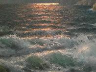 Rugged Coast California 44x34  Huge Original Painting by Alex Dzigurski Sr. - 7