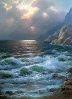 Rugged Coast California 44x34  Huge Original Painting by Alex Dzigurski Sr. - 0