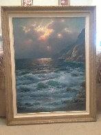 Rugged Coast California 44x34  Huge Original Painting by Alex Dzigurski Sr. - 2