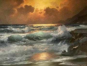 Golden Pacific 1965 37x48 Original Painting by Alex Dzigurski Sr.