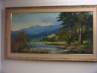 Landscape (Colorado Lowland) 1960 30x54 Super Huge Original Painting by Alex Dzigurski Sr. - 1