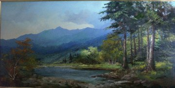 Landscape (Colorado Lowland) 1960 30x54 Super Huge Original Painting - Alex Dzigurski Sr.