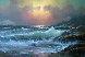 Pacific Sunset 29x41 Original Painting by Alex Dzigurski Sr. - 0