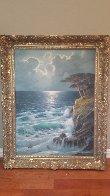 Untitled Seascape 49x39 Super Huge Original Painting by Alex Dzigurski Sr. - 1