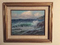 Pacific Ocean 1977 12x16 Original Painting by Alex Dzigurski Sr. - 1