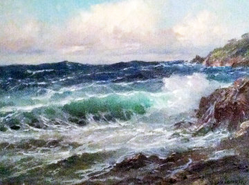 Pacific Ocean 1977 12x16 Original Painting - Alex Dzigurski Sr.