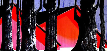 Winter Barn AP Limited Edition Print - Eyvind Earle