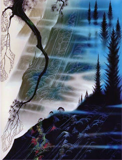 Sea, Cliffs, And Redwoods 1992 Limited Edition Print - Eyvind Earle