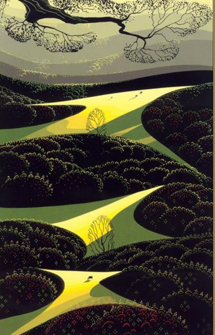 Three Little Fields 1991 Limited Edition Print by Eyvind Earle